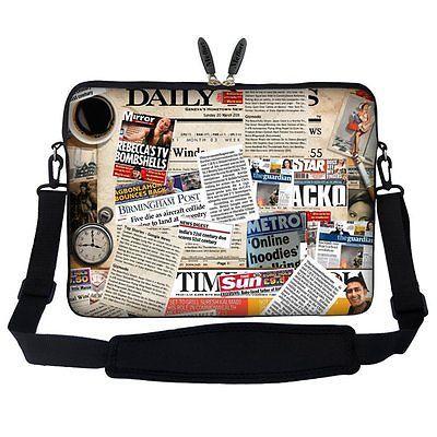 Meffort Inc 15 15.6 inch Neoprene Laptop Sleeve Bag Carrying Case with Hidden -