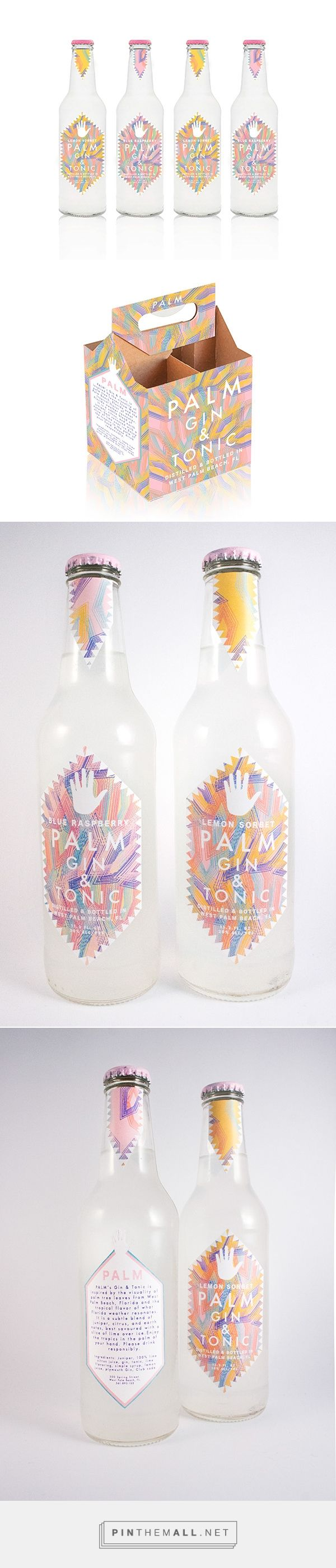 Hometown Gin and Tonic packaging on Pratt Portfolios by Jane Jun