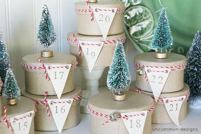tree-topped advent calendar