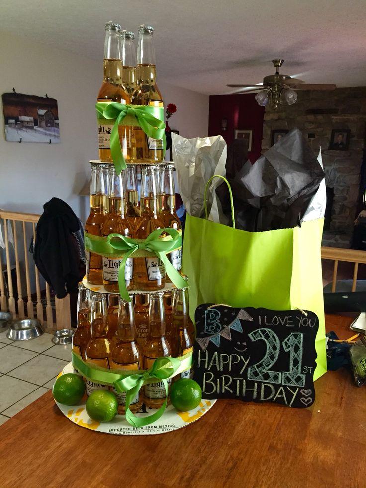 Corona beer bottle cake! Simple and awesome :) #guy #birthday #21 #corona #beercake