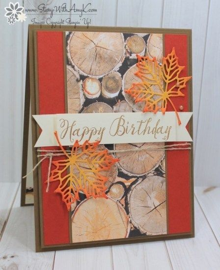 Stampin' Up! Feather Together Birthday Card for Stamp Ink Paper – Stamp With Amy K
