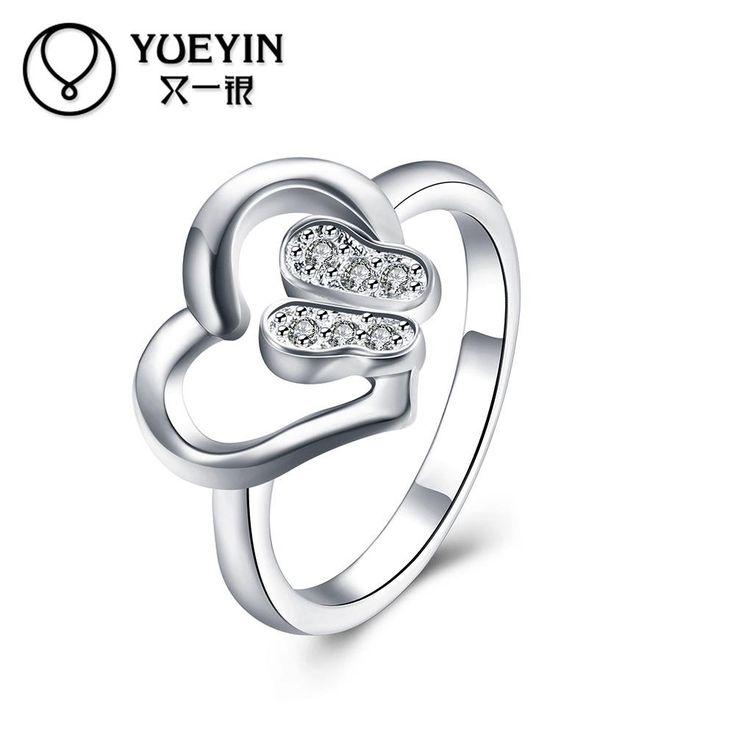 Мода серебрение кольца перста для леди обручальное кольцо пара кольца Классический Симпатичные anillos де бода Против аллергии унисекс купить на AliExpress