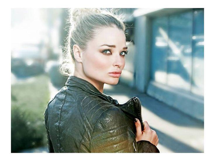 ALLSAINTS |  British Actress Emma Rigby wearing the Slate Biker Jacket