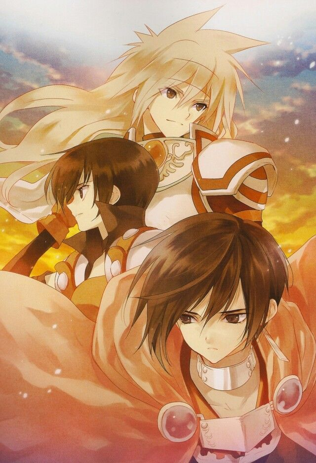 Leon, Rutee and Stahn. Tales of Destiny