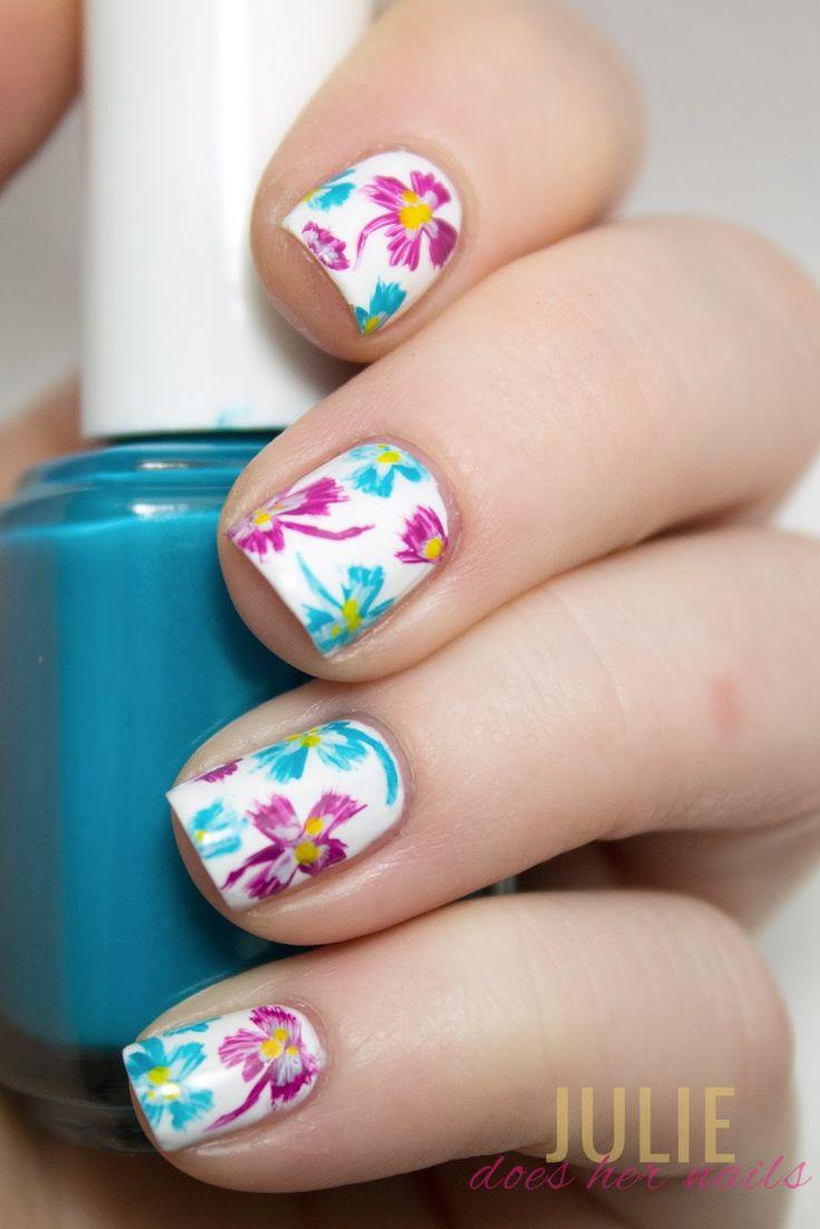 Essie Flowerista Tropical Nail Art