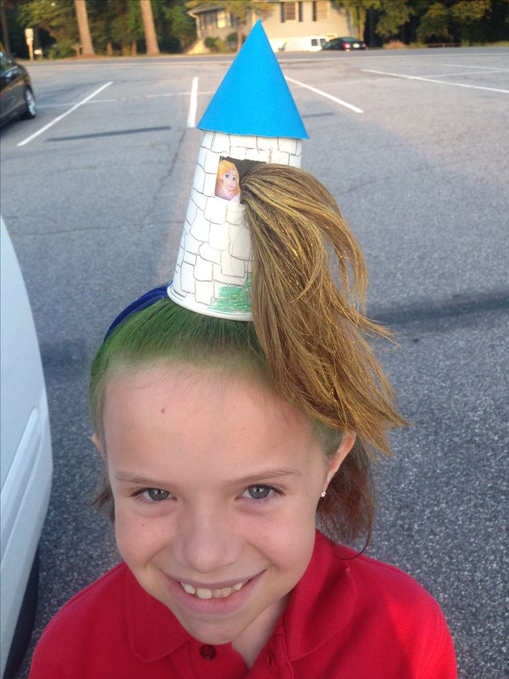 Crazy hair day. Repunzel in her tower. So fun!