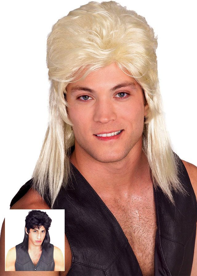 Mullet Wig - More Colors - Candy Apple Costumes - 80's Costumes