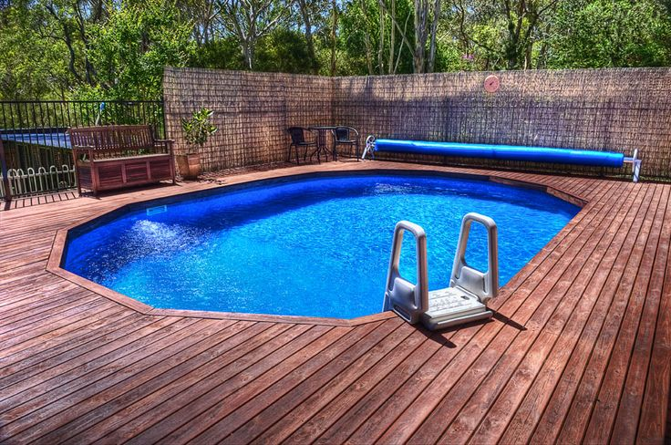 14 best doughboy decks images on pinterest for Above ground pool decks for sale
