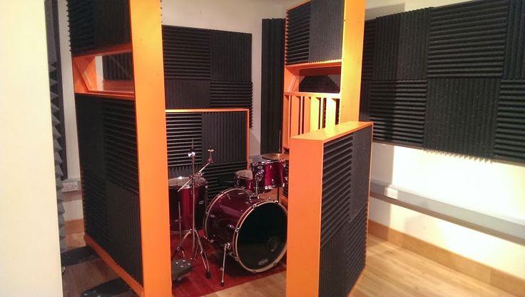 recording studio gobo drums all diy