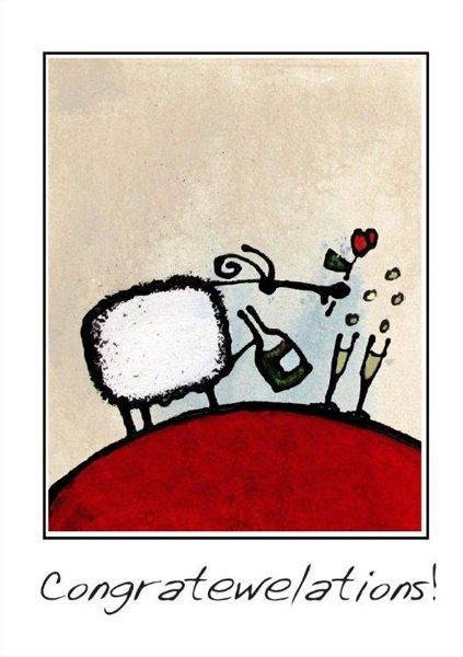 """Congratewelations!"" card by Ann Gadd."