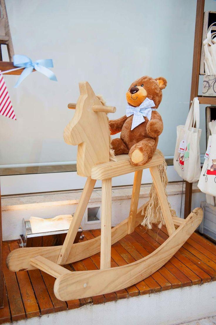 Cavalinho de Pau Decor Festa de Brinquedos Antigos