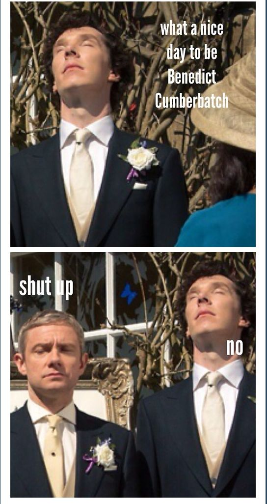 what a nice day...(It's always a nice day to be Benedict Cumberbatch.)