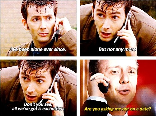 Ah, how sweet. The Doctor and the Master. XP