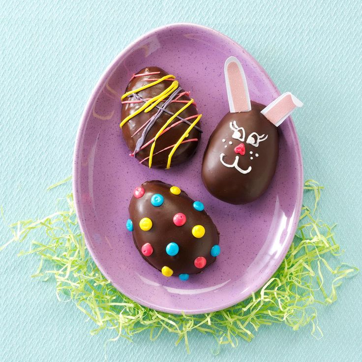 Peanut Butter Easter Eggs Recipe -Get the kids involved in making these chocolate and peanut buttery treats, well worth the sticky fingers! —Mary Joyce Johnson, Upper Darby, Pennsylvania