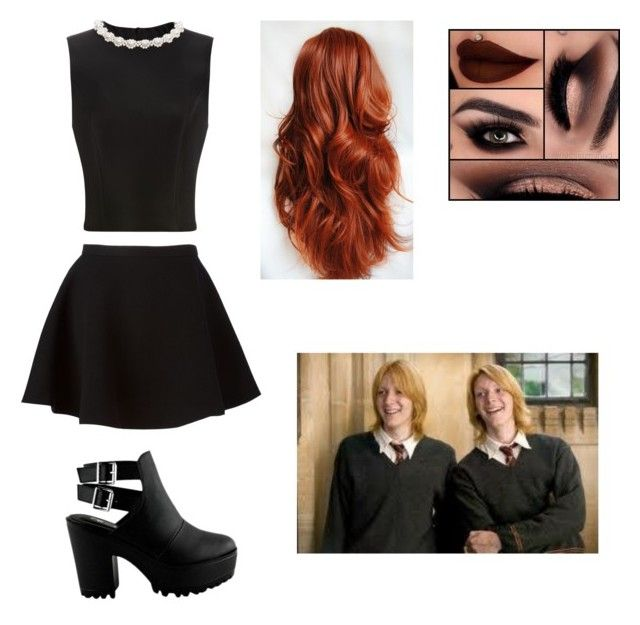 date with Fred and George by daniellabramhall on Polyvore featuring Simone Rocha, Neil Barrett and INDIE HAIR