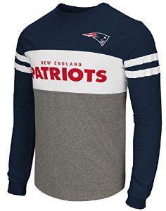 "New England Patriots Men's NFL G-III ""ERA"" Colorblocked Long Sleeve Shirt: Amazon.co.uk: Sports & Outdoors"