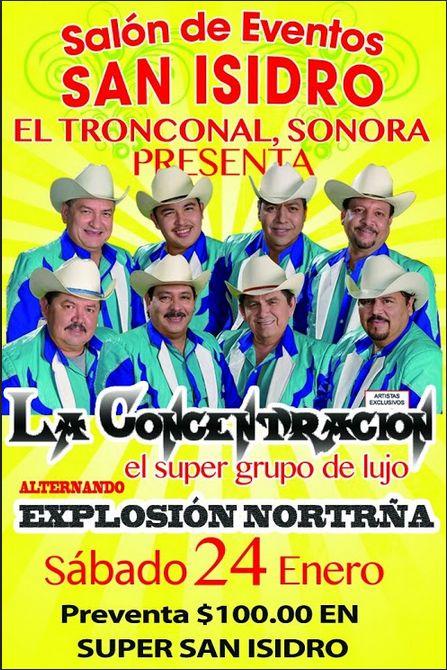 GRUPO MUSICAL LA CONCENTRACION: La Conce en El Tronconal de Hermosillo, Sonora