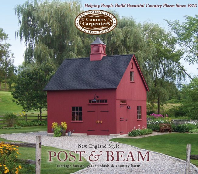 Post & beam barns, post & beam carriage houses & post & beam garden sheds and garages. This has my name all over it.......pretty please?