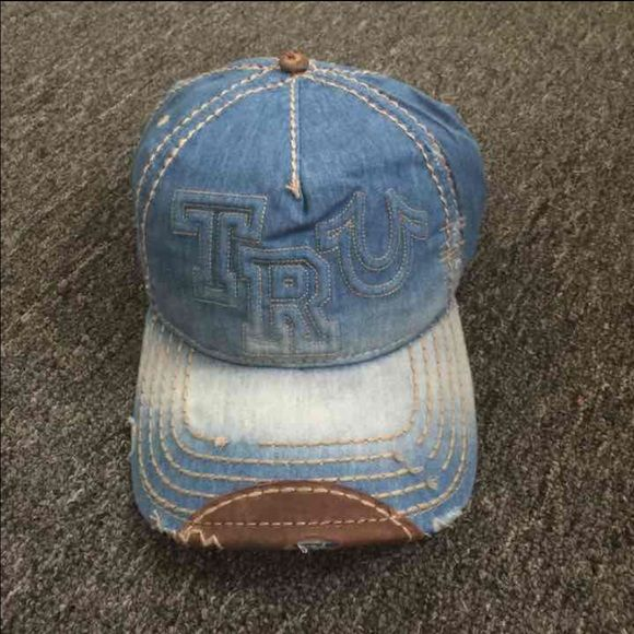 New True Religion Unisex Light Blue Hat New True Religion Hat Color: Light Blue Size: Adjustable True Religion Accessories Hats