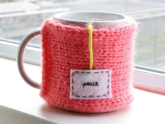 A moment of peace. // Blush Pink Handmade Knitted Snug Mug Warmer Cozy by OnanaKnits, $15.75 // Find out more at our Etsy store! OnanaKnits.etsy.com #knitting #cosy #cozy #mugcozies #cupcozy #onanaknits #coffeesleeves #coffee #tea #handmade