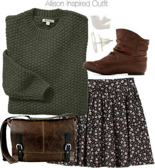 Spring/ warm Fall! Wear w/ a dark green t-shirt instead of the sweater in the heat