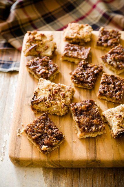 Cowboy Bars - These cowboy bars have a familiar and always inviting shortbread crust (this time with a touch of oatmeal for texture) and they're topped with BBQ sauce, maple syrup and pecans.  | Cupcake Project