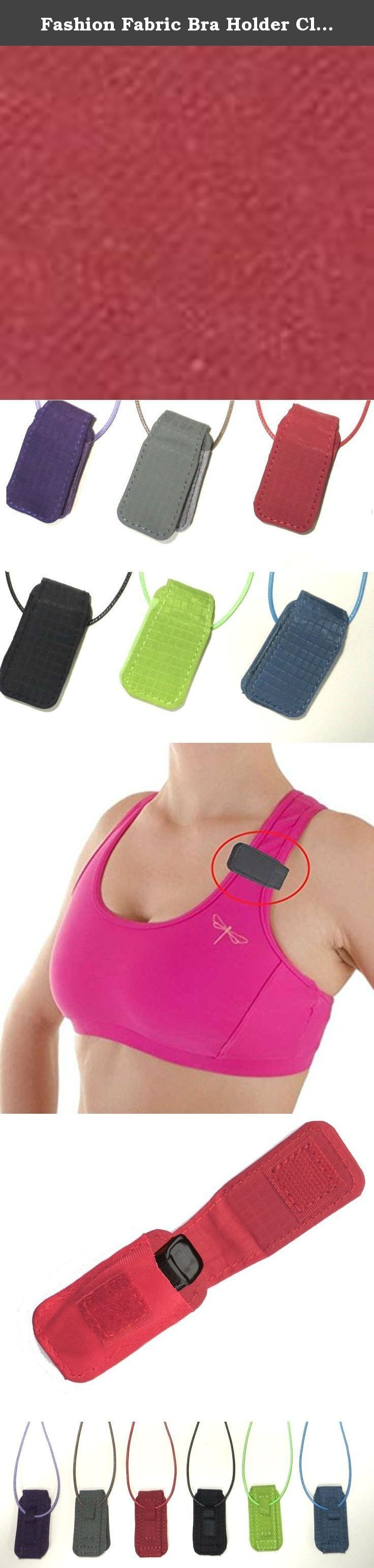 Fashion Fabric Bra Holder Clip for Misfit Shine Flash- Activity and Sleep Monitor (red, BRA HOLDER). An alternative to the LEATHER STRAP WRISTBAND, sleep band, wristband, clip, plastic holder, convenient to use.
