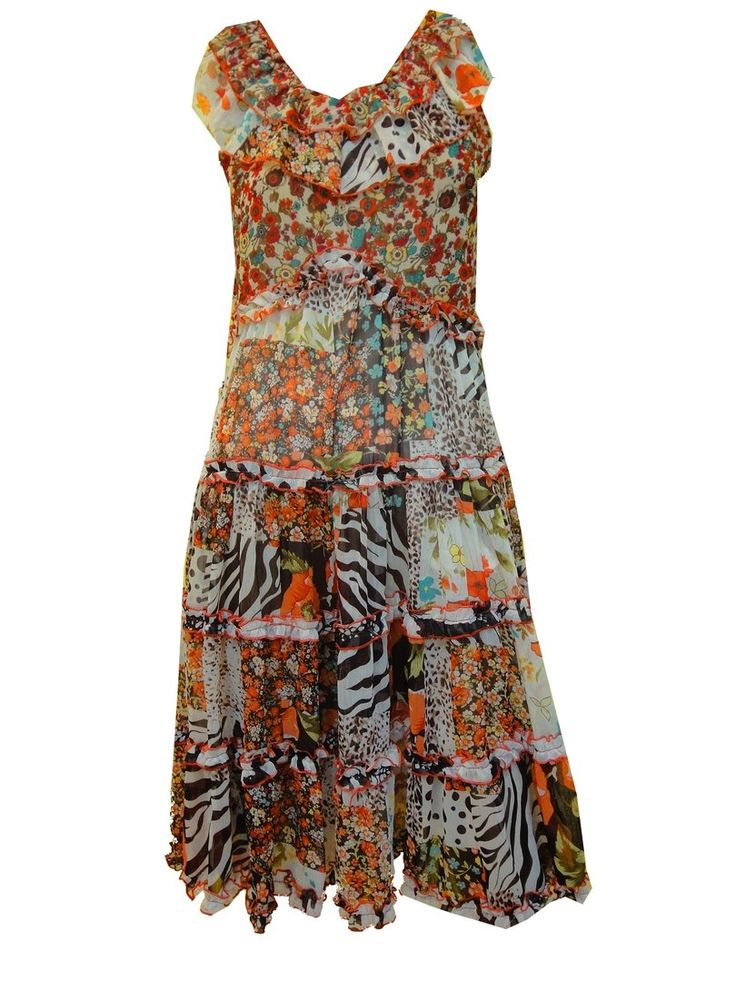 Chiffon Kleid, multicolor - Online Shop meinkleidchen.de ...