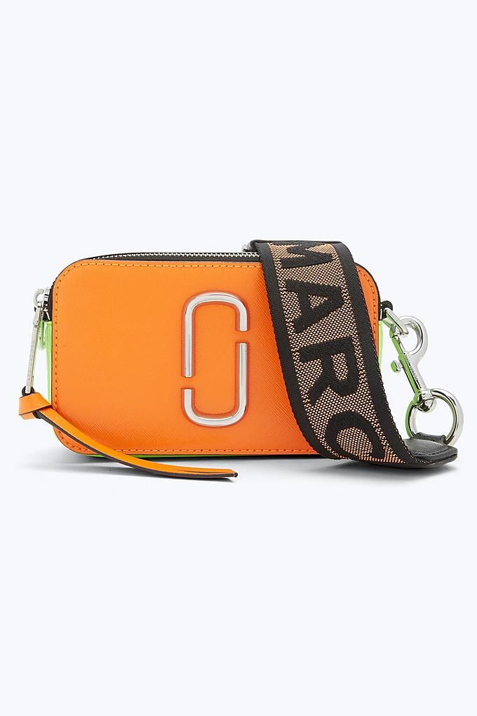 9fe2a4823443 Marc Jacobs Fluorescent Snapshot Small Camera Bag in Bright Orange Multi