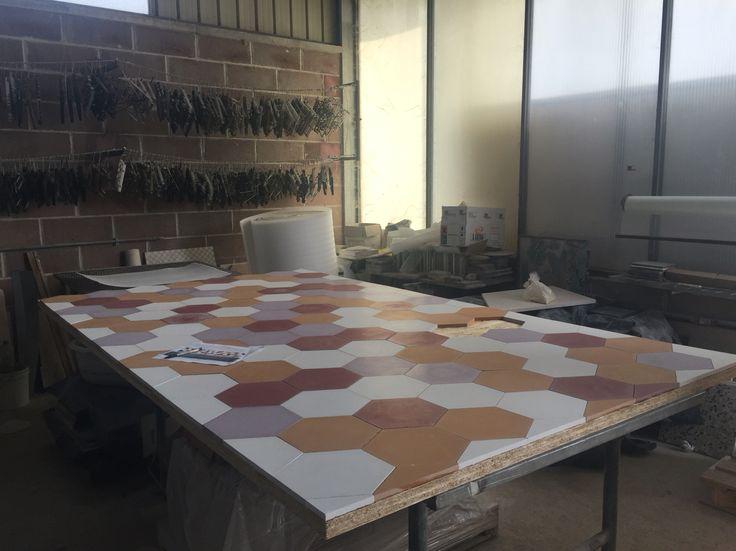 Patchwork Cementine esagonali, #breradesigndistrict #fuorisalone #cementtiles