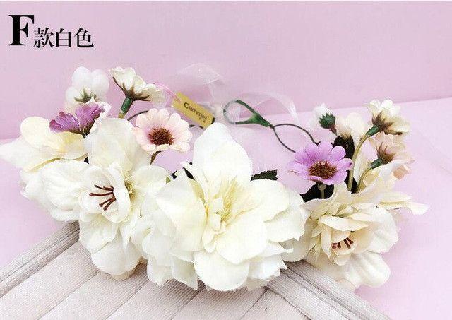 Fast shipping Women Wedding hair accessories bridal flower wreath headband & Wrist Kids Party Flower Crown Korean girls garlands