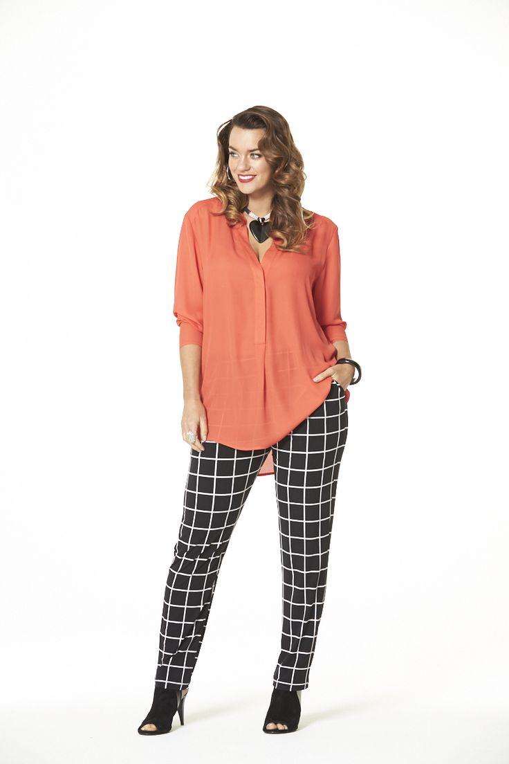 Spring Fling Check Pant  #mysize #plussize #fashion #plussizefashion #spring #newarrivals #outfit