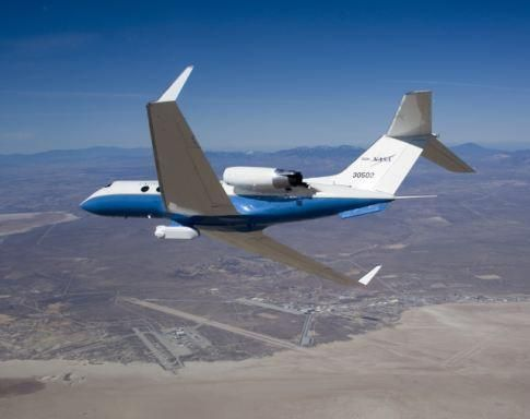 To create a map of California's fault systems, NASA attached a radar mechanism, called Uninhabited Aerial Vehicle Synthetic Aperture Radar -- UAVSAR -- to the underbelly of a Gulfstream III jet, It sends microwave pulses at the Earth's surface to detect small deformations, like those caused by earthquakes, landslides, and volcanoes