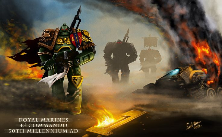 Love Warhammer, and seeing as I was once in the Royal Marines, why not create a version of Royal in the future!