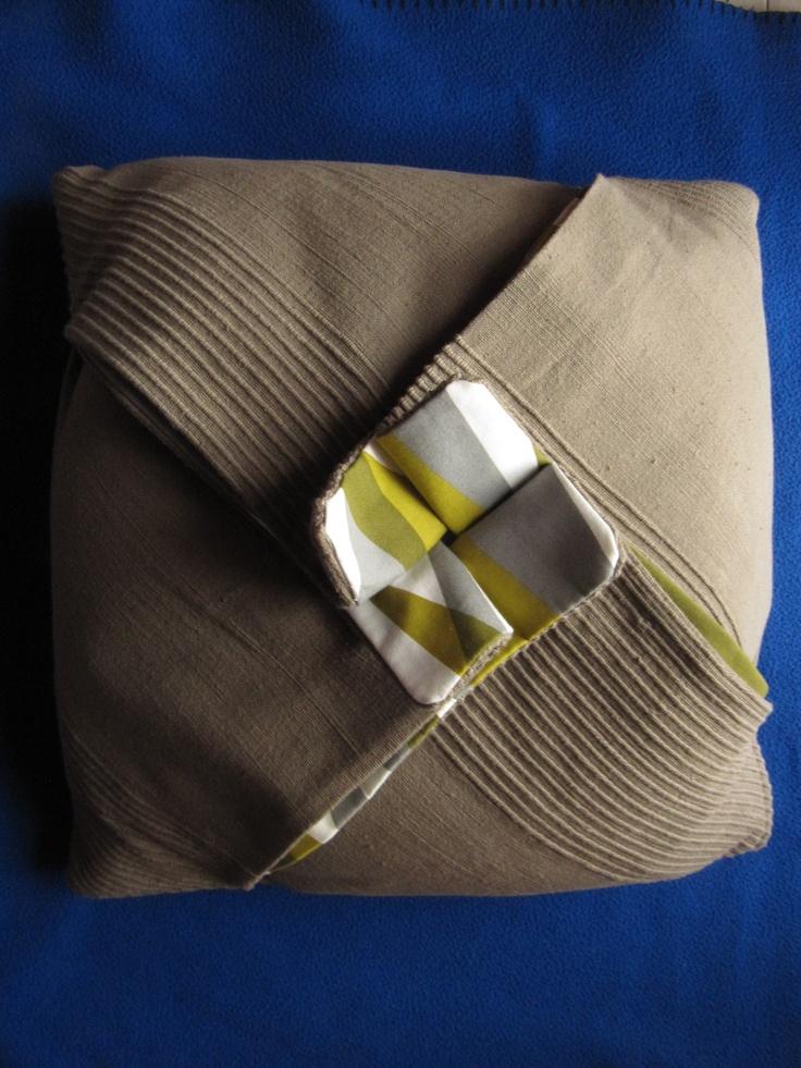 cuscino a quadrifoglio #origami