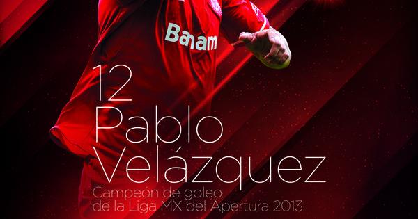 Pablo Velázquez • Campeón de Goleo Apertura 2013 • 12 Goles • Diablos Rojos del Toluca • @Liga Bancomer MX | Toluca | Pinterest