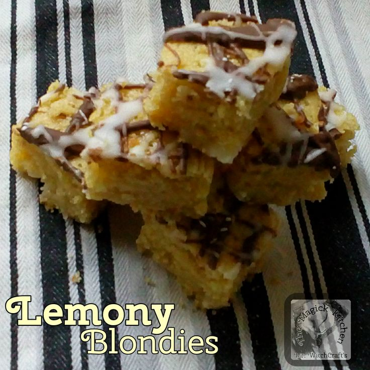 These blondies are really little slices of lemon heaven. The inclusion of aquafaba keeps them moist and light.