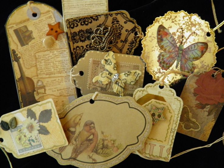 In Style Party Favors: Gift Tags, Elegant Victorian Style. Choose From Several