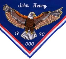 Awards & Gifts :: Eagle Scout Gifts :: Eagle Scout Neckerchief - Appliqued Eagle - Boy Scout Store - Boy Scout Collectibles & Memorabilia & Gifts
