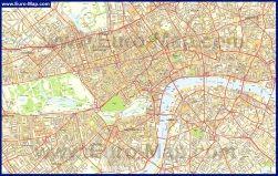 Подробная карта Лондона с улицами