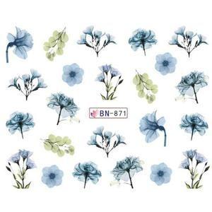 1pcs Nail Water Transfer Sticker Blossom Floral Series Dry Flower Tatt – eefur…