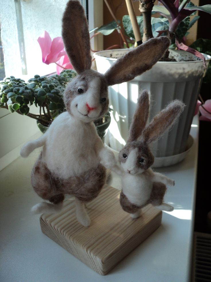 Handmade rabbit with her fave bunny