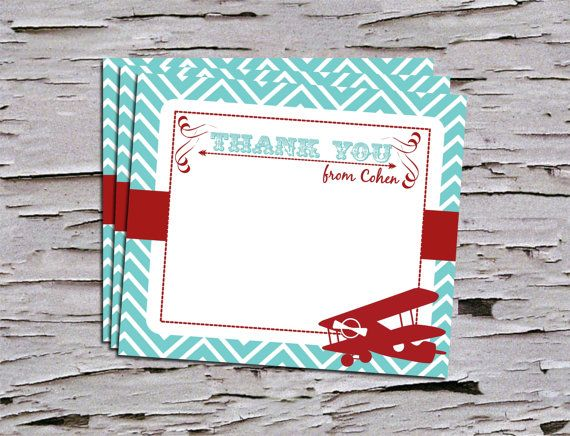 Vintage First Birthday Thank You Note  by PoshPaperPartiesCo
