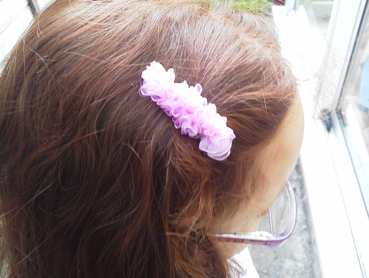 Hope wearing handmade hairclip