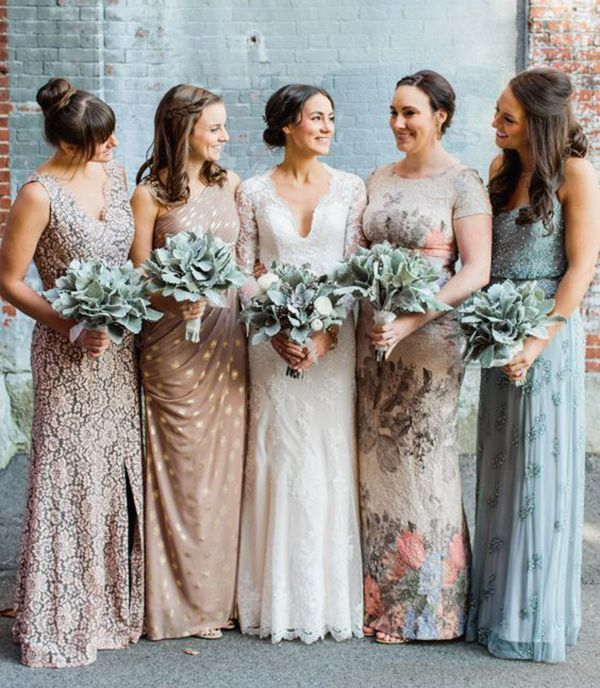Mismatched bridesmaid dresses pics wedding forum for Different colored wedding dresses