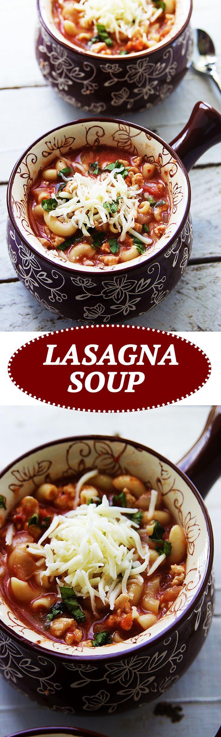 Lasagna Soup is a fun way to enjoy the ever popular lasagna dish.