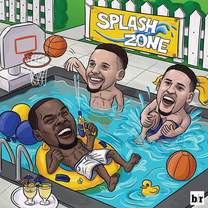 Steph, KD and Klay combined for more threes than the Cavs whole team tonight.