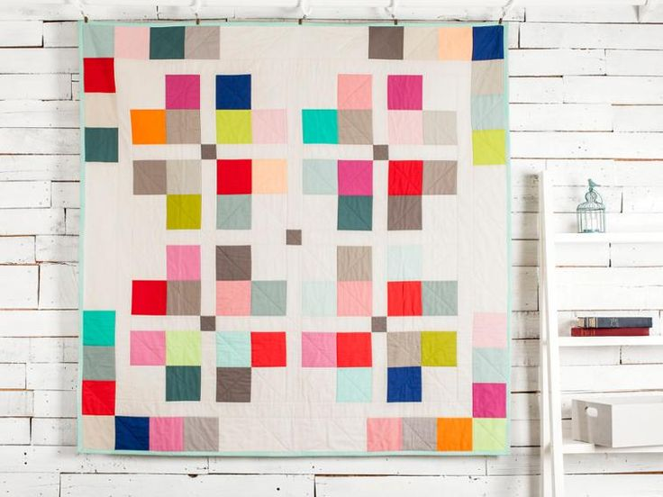 Town Square Call Me Contemporary Mixer Quilt Kit featuring Boundless Solids | Craftsy