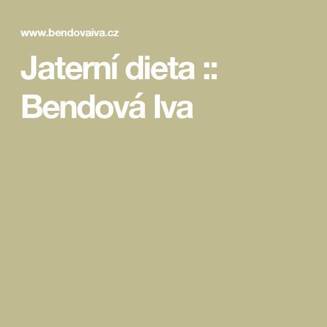 Jaterní dieta :: Bendová Iva