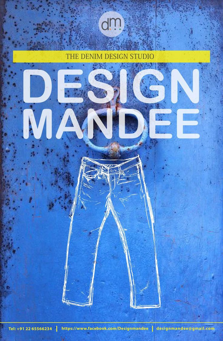Poster design jeans - Denim Jeans Bee